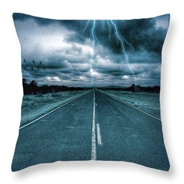 Doomsday Road Throw Pillow