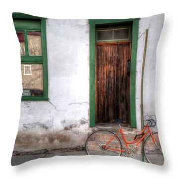 Throw Pillow featuring the photograph Door 345 by Lynn Geoffroy