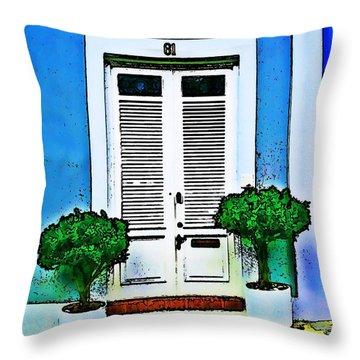 Door 61 Throw Pillow by Perry Webster