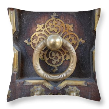 Door Artwork Closeup Throw Pillow