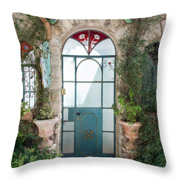 Door Entrance To The Art Throw Pillow by Yoel Koskas