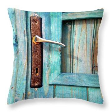 Door Handle Throw Pillow by Carlos Caetano