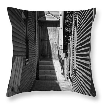 Door In An Alley Throw Pillow