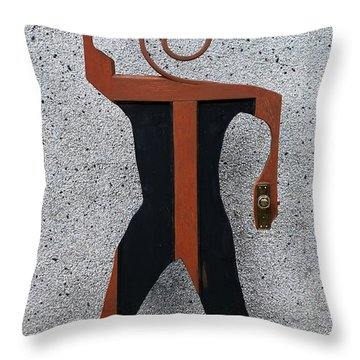 Door Man Throw Pillow