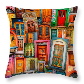 Door Mashup Vertical Throw Pillow by TK Goforth