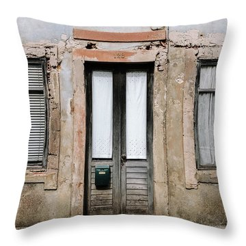 Throw Pillow featuring the photograph Door No 128 by Marco Oliveira