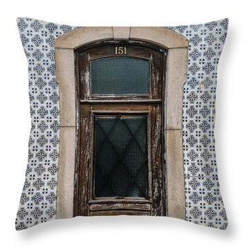 Throw Pillow featuring the photograph Door No 151 by Marco Oliveira