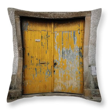 Throw Pillow featuring the photograph Door No 152 by Marco Oliveira