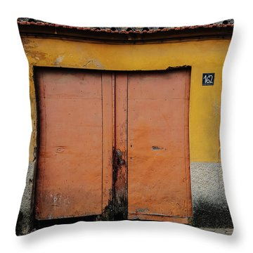 Throw Pillow featuring the photograph Door No 162 by Marco Oliveira