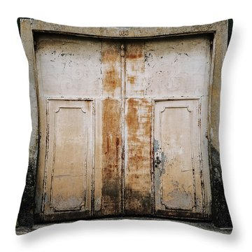 Throw Pillow featuring the photograph Door No 163 by Marco Oliveira