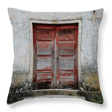 Throw Pillow featuring the photograph Door No 175 by Marco Oliveira
