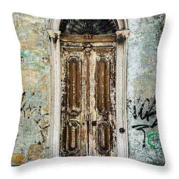 Door No 35 Throw Pillow
