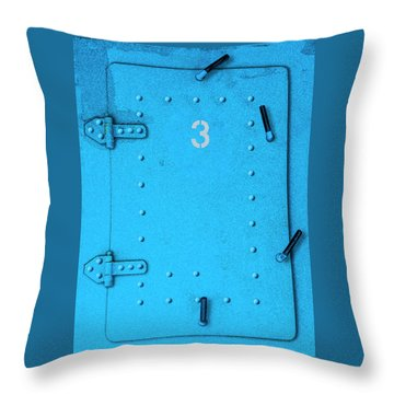 Throw Pillow featuring the photograph Door Number 3 by Paul Wear