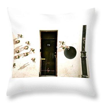 Door Seventy Street Art Throw Pillow