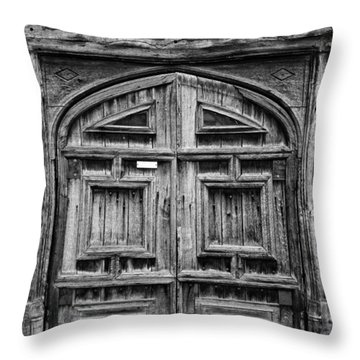 Door To Henry Viii Hunting Lodge Throw Pillow