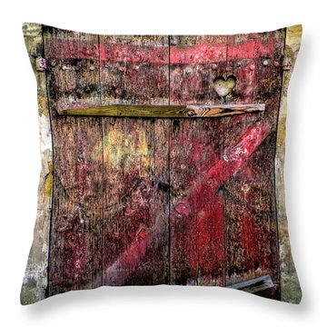 Door To My Heart Throw Pillow by Karen Lewis