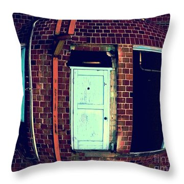 Throw Pillow featuring the photograph Door To Nowhere by Yulia Kazansky