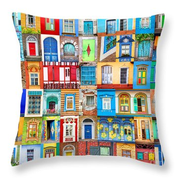 Doors And Windows Of The World Throw Pillow