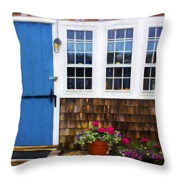 Blue Door - Doors And Windows Series 01 Throw Pillow