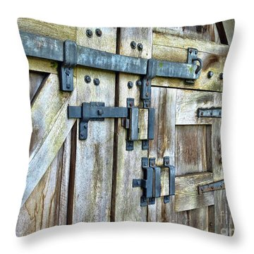 Doors At Caerphilly Castle Throw Pillow