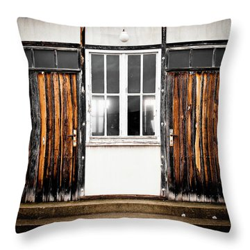 Doors Of Dachau Throw Pillow