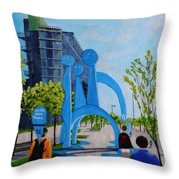Toronto Canary District - Doors Open Toronto Throw Pillow
