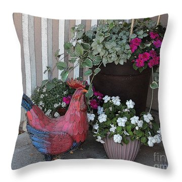 Doorstep Still Life Throw Pillow