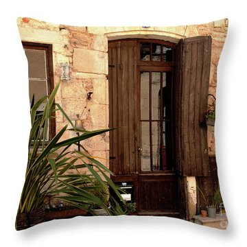 Doorway At Number 12 Throw Pillow