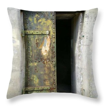 Doorway Throw Pillow by Claudia Stewart