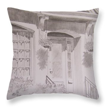 Doorway Throw Pillow by Jackie Mueller-Jones
