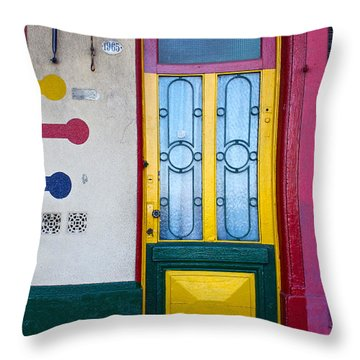 Doors Of San Telmo, Argentina Throw Pillow