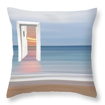 Doorway To The Future Throw Pillow by Gill Billington