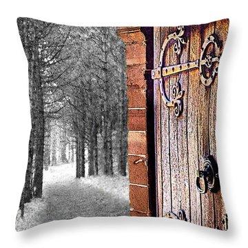 Doorway To Hadrian's Wood Throw Pillow