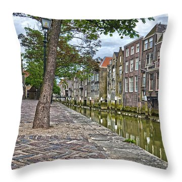 Dordrecht Behind The Church Throw Pillow