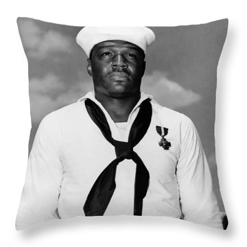Dorie Miller Throw Pillow by War Is Hell Store