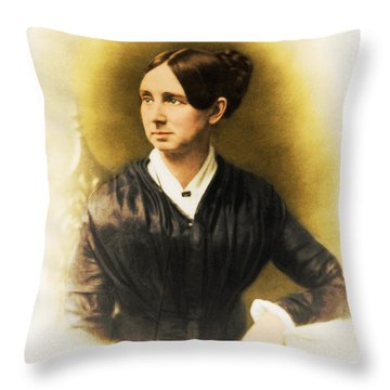 Dorothea Dix, American Reformer Throw Pillow by Photo Researchers
