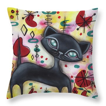 Dorothy Cat Throw Pillow by Abril Andrade Griffith