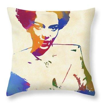 Dorothy Dandridge Watercolor Throw Pillow