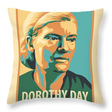 Dorothy Day, 1938 - Jldyd Throw Pillow