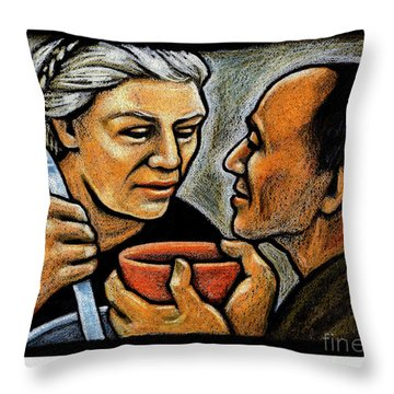 Dorothy Day Feeding The Hungry - Jlddf Throw Pillow
