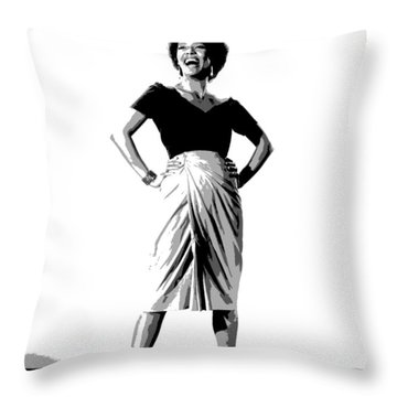 Throw Pillow featuring the mixed media Dorothy Jean Dandridge by Charles Shoup