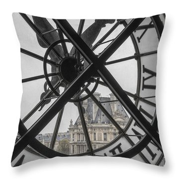 D'orsay Clock Paris Throw Pillow