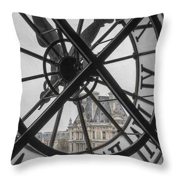 D'orsay Clock Paris Throw Pillow
