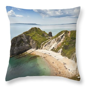 Dorset Coast Throw Pillow
