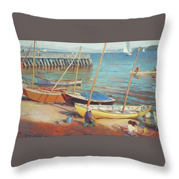 Dory Beach Throw Pillow