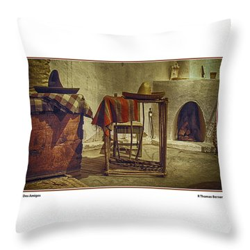 Dos Amigos Throw Pillow