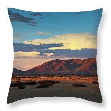 Dos Cabezos Sunset Serenity Throw Pillow