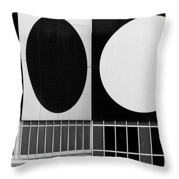 Dot Building Throw Pillow