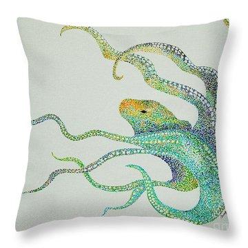 Dot Octopus Throw Pillow
