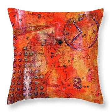 Dot Of Time Throw Pillow